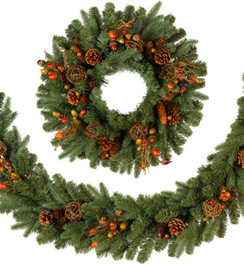 Countryside Christmas Garland traditional-wreaths-and-garlands