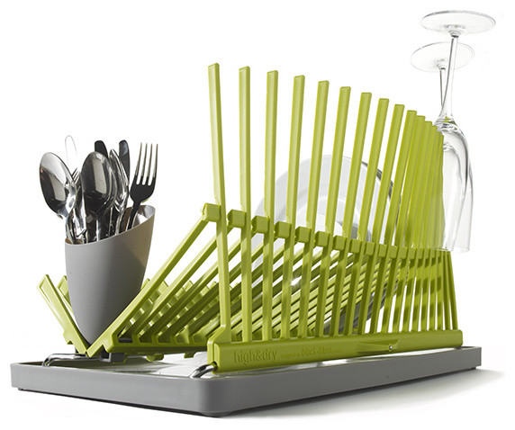 High & Dry Collapsible Dish Rack - Black + Blum modern-dish-racks