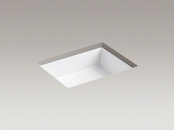 Kohler Verticyl R Rectangular Undermount Bathroom Sink Contemporary Bathroom Sinks By Kohler