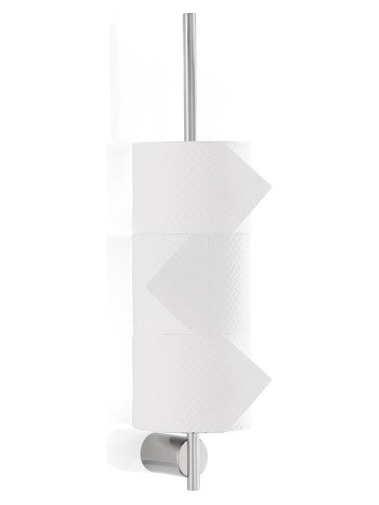 "Blomus - Duo Toilet Paper Pole - Stainless steel. Available with a polished or matte finish and includes a mounting kit.Depth to wall: 3.2"" Diameter of mounted cylinder: 1.2"""
