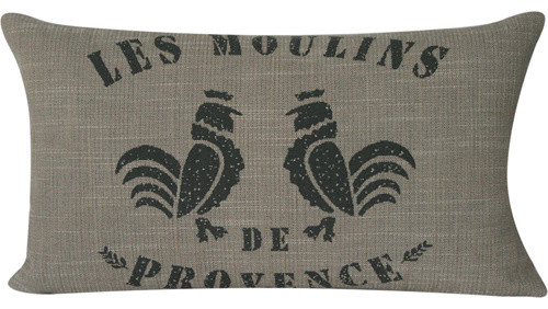 French Press Rooster Lumbar Pillow eclectic-pillows
