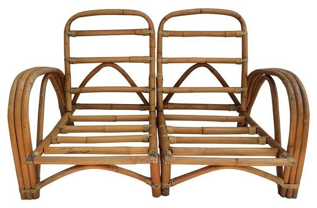 Pre owned Bamboo & Rattan Chairs or Loveseat Tropical