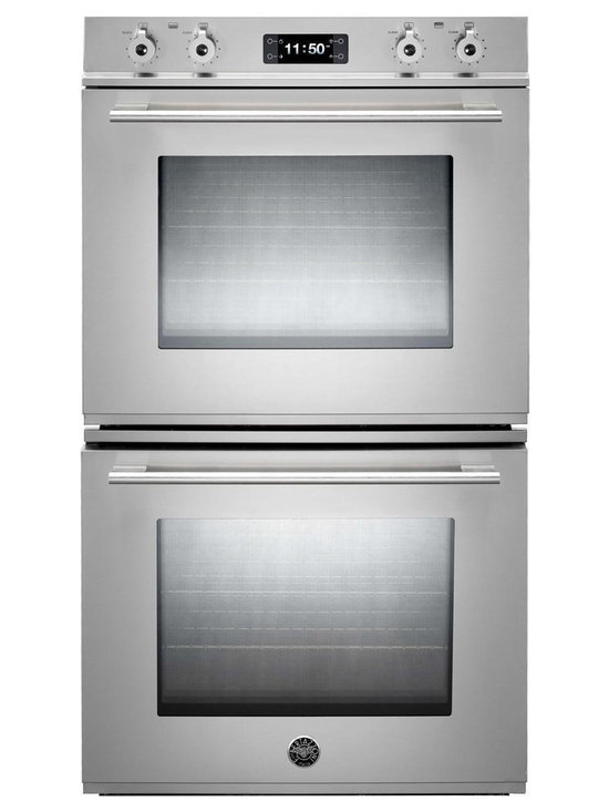"""Bertazzoni 30"""" Professional Double Electric Wall Oven, Stainless 