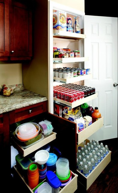 Custom Pull Out Pantry Shelves contemporary
