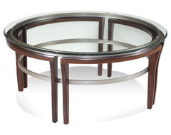 Fusion Round Cocktail Table contemporary-coffee-tables