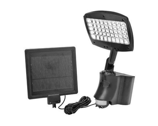 Coleman Cable - LED Motion Activated Solar Flood Light - L955 - 45 LED Motion Activated Solar Flood Light with super bright LEDs for years of maintenance free usage. 120 Motion Detector detects motion up to 33 feet way. Multi-crystal solar panel designed for outdoor use. Rechargeable battery included. Two setting function - continuous lighting or motion sensor selection.