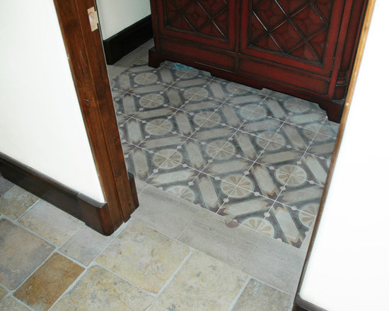 Cement squared tiles - Encaustic tiles - Image by 'Ancient Surfaces'