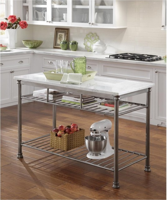 ... Kitchen Island - Contemporary - Kitchen Islands And Kitchen Carts - by