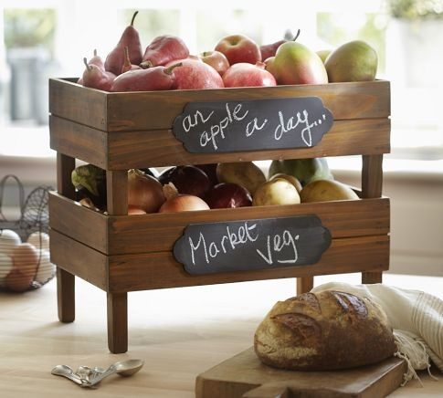 Stackable Fruit Crates traditional-fruit-bowls-and-baskets