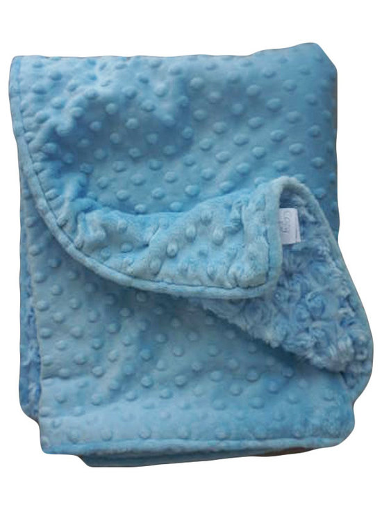 Belle & June - Baby Blanket, Blue Dot - This throw blanket is supremely soft and cozy while its soft color scheme keeps it looking elegant and sophisticated in any nursery. Buy this blanket for your baby or give as a shower gift to expectant parents. They will be sure to love and cherish it.