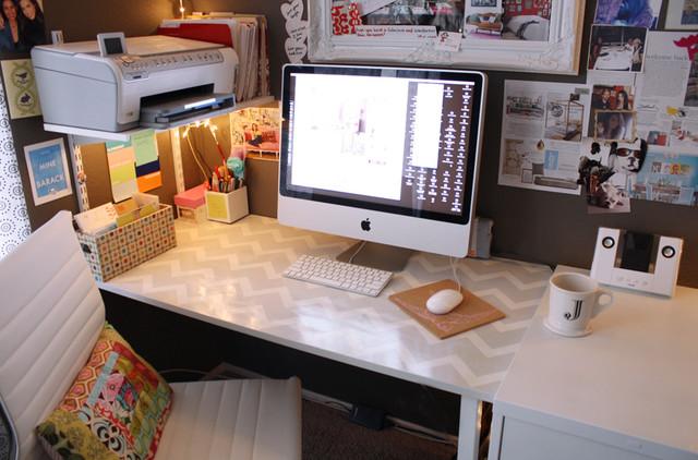 Jen's Office studio eclectic-home-office
