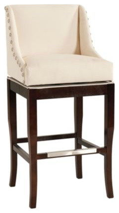 Marcello Barstool With Pewter Nailhead Trim contemporary-bar-stools-and-counter-stools