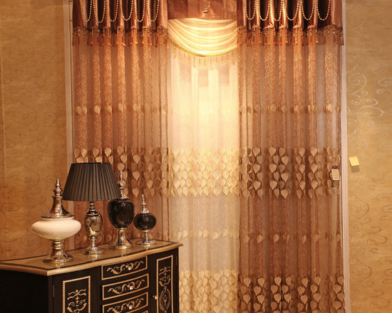 Customized Curtains in Golden Color -