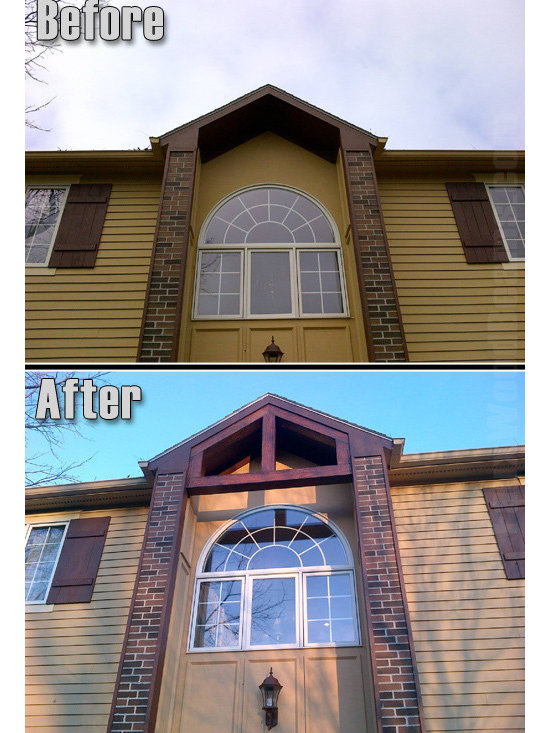 Sandblasted Faux Beams - Our incredibly durable, weather resistant beams can be used for exterior home designs as well.