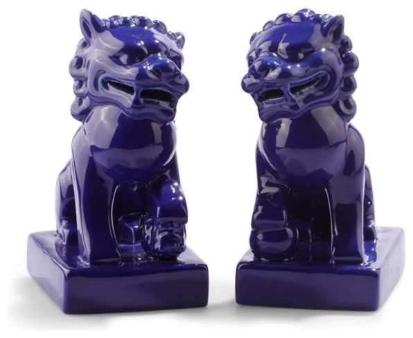 Foo Dogs, Blue asian-accessories-and-decor