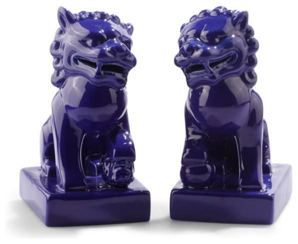 Foo Dogs, Blue asian-home-decor
