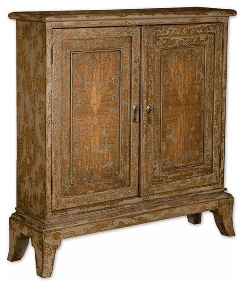 Uttermost Maguire Distressed Console Cabinet - modern - bathroom ...