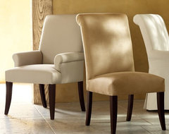 PB Comfort Upholstered Chair traditional dining chairs and benches