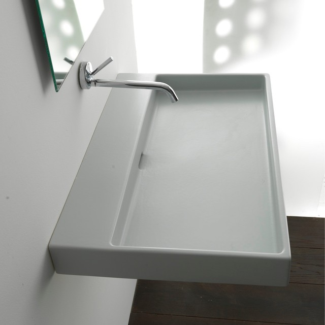 bath collections urban 100 wall mount sink 39 4 contemporary bathroom