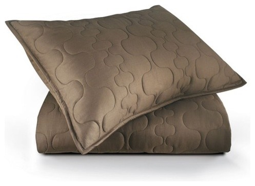 Spa Quilted Sham Set in Natural modern-pillowcases-and-shams