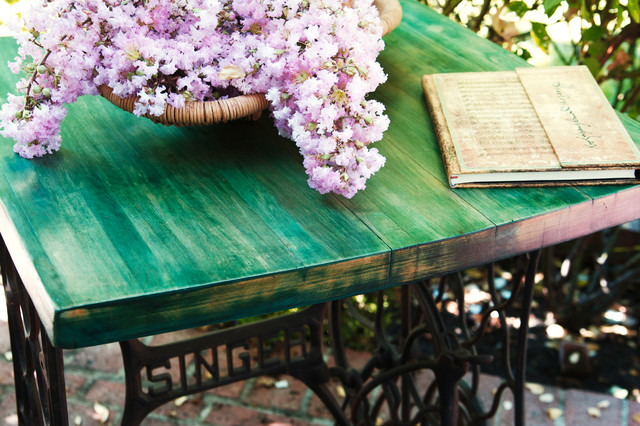... Iron Singer Sewing Machine Table eclectic-side-tables-and-end-tables