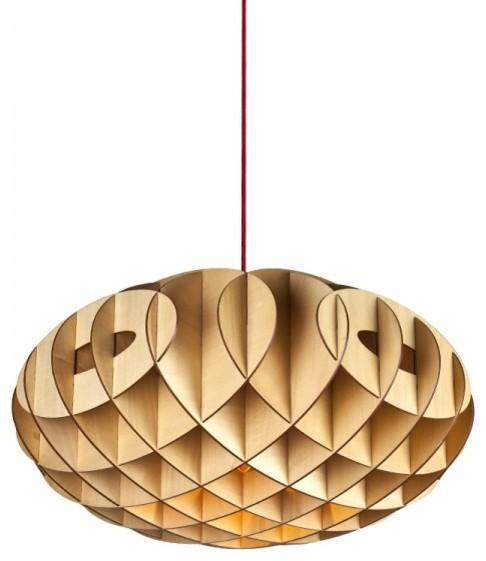 Wood Puzzle Pendant Lamp Contemporary-pendant-lighting