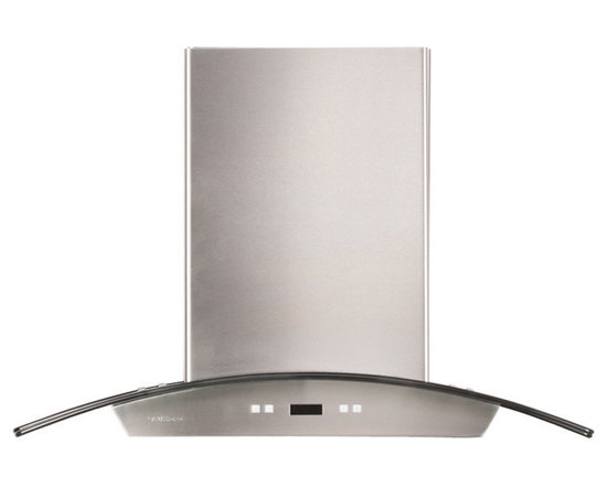 Cavaliere - Cavaliere-Euro SV218D-30 Stainless Steel Wall Mount Range Hood - Cavaliere Stainless Steel 218W Wall Mounted Range Hood with 6 Speeds, Timer Function, LCD Keypad, Aluminum Grease Filters, and Halogen Lights
