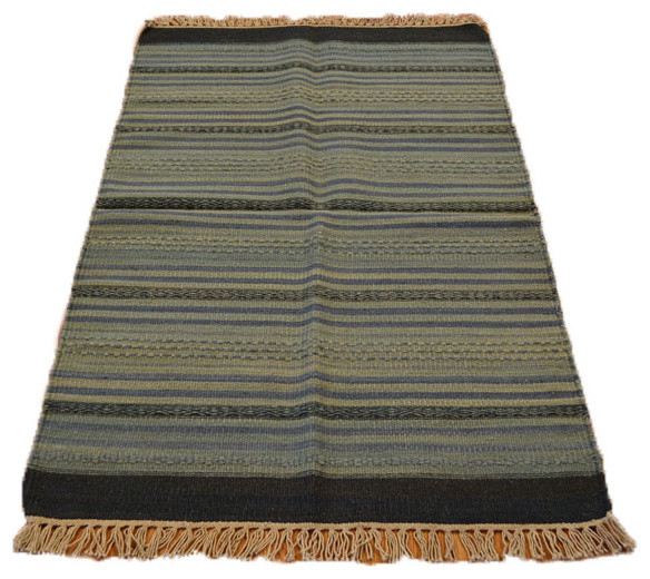 Striped Reversible Flat Weave Durie Kilim Hand Woven Sh5396 transitional-area-rugs