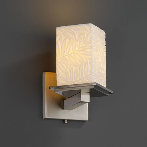 Limoges Montana Brushed Nickel Angled Bobeche Wall Sconce contemporary-bathroom-lighting-and-vanity-lighting