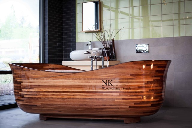 wood bathtub nk woodworking seattle the lotus design. Black Bedroom Furniture Sets. Home Design Ideas
