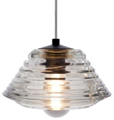 Pressed Glass Pendant - Bowl by Tom Dixon  pendant lighting