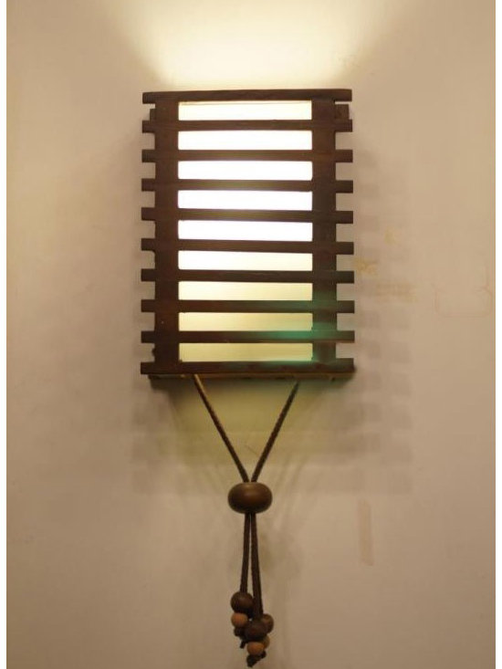 Modern Wood shade Wall Sconce - Modern Wood shade Wall Sconce