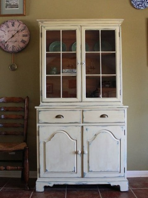 Farmhouse Style China Cabinet - China Cabinets And Hutches - austin - by Nod to the Past