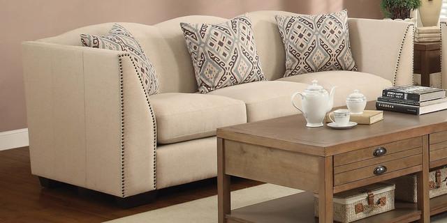 Siana Taupe Linen Sofa modern-sofas