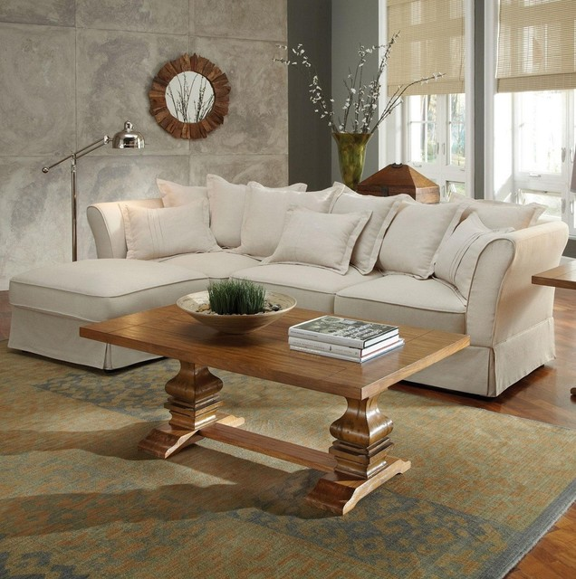 Coaster Karlee Cottage Styled Three Seat Sectional 500910