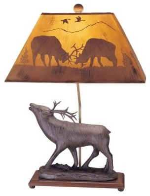 Mario Industries Back to Nature Elk Table Lamp - Brown modern-table-lamps