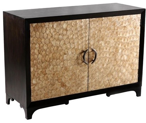 Accent Cabinet Capiz Shell Doors  furniture
