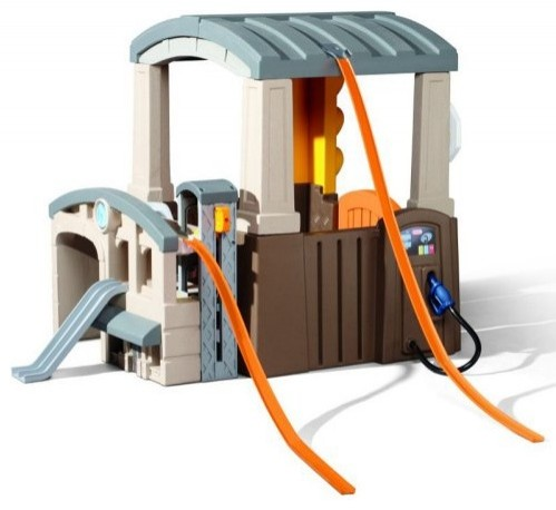 Little tikes race n re fuel pit stop playhouse for Little tikes outdoor playset