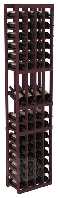 4 Column Display Row Cellar Kit in Pine with Burgundy Stain traditional-wine-racks