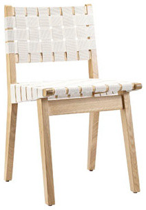 Weave Dining Side Chair in White modern-dining-chairs