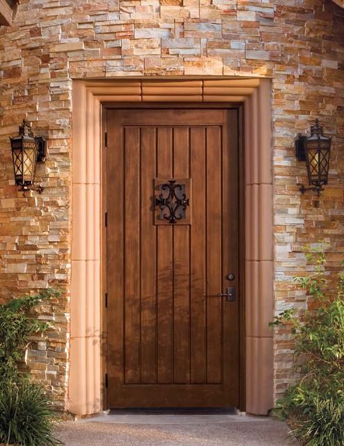 Jeld-Wen Custom Fiberglass A1301 Mahogany Woodgrain Door ...