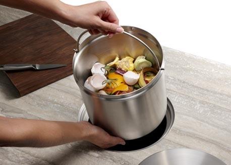 BLANCO SOLON™ Compost System contemporary-kitchen-trash-cans