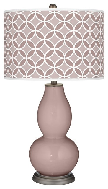 Contemporary Dressy Rose Circle Rings Double Gourd Table Lamp contemporary-table-lamps