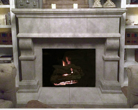 Windsor Cast Stone Fireplace Mantel -