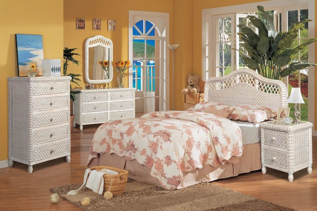 santa cruz bedroom collection white wash finish beach