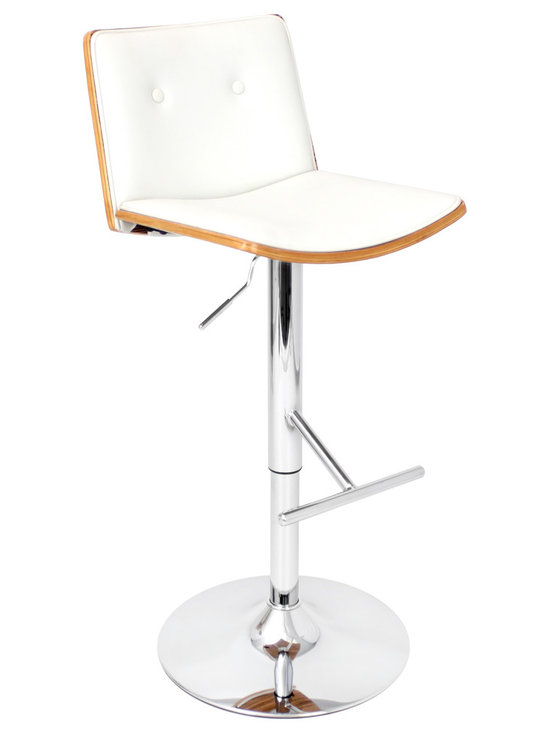 Lustra Bar Stool - WHITE