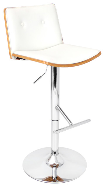 Lustra Bar Stool White Contemporary Bar Stools And