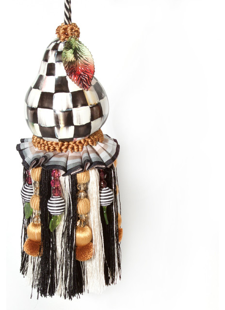 Courtly Check Pear Tassel | MacKenzie-Childs eclectic-home-decor
