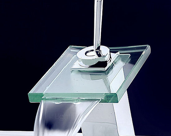 Square Stainless Single Handle Waterfall Faucet - Item #: FAU0302084
