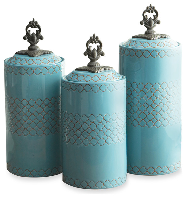 earthenware canisters set of 3 blue contemporary 40 best images about kitchen ideas on pinterest shaker